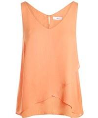 Blouse effet croisé uni Orange Polyester - Femme Taille 1 - Cache Cache