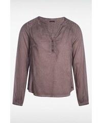 Blouse femme dirty oil motifs épaules Gris Coton - Femme Taille L - Bonobo