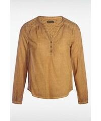 Blouse femme dirty oil motifs épaules Jaune Coton - Femme Taille L - Bonobo