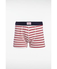 Boxer homme rayures bicolores Rouge Elasthanne - Homme Taille L - Bonobo