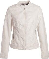 Blouson simili avec zip devant Beige Synthetique (polyurethane) - Femme Taille 1 - Cache Cache