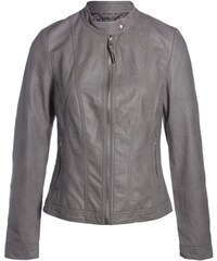 Blouson simili avec zip devant Gris Synthetique (polyurethane) - Femme Taille 1 - Cache Cache