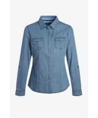 Chemise femme jeans à pois Bleu Coton - Femme Taille L - Bonobo