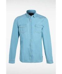 Chemise homme en jean Bleu Coton - Homme Taille L - Bonobo