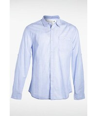 Chemise homme micro rayures Bleu Coton - Homme Taille L - Bonobo