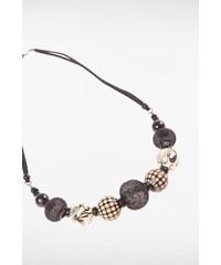 Collier perles multicolores Noir Acrylique - Femme Taille TU - Bonobo