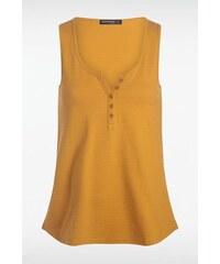Débardeur femme basique boutonné Jaune Coton - Femme Taille L - Bonobo