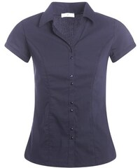 Chemisier manches courtes Bleu Elasthanne - Femme Taille 0 - Cache Cache