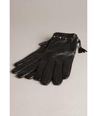 Gants femme cuir studs Noir Cuir de mouton - Femme Taille L - Bonobo