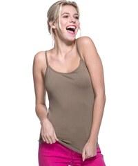 Débardeur fines bretelles 100% coton Vert Elasthanne - Femme Taille 0 - Cache Cache