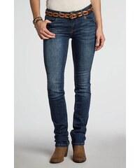 Jeans femme regular RABAT urbain Bleu Elasthanne - Femme Taille 34 - Bonobo