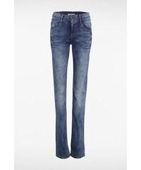 Jeans femme regular ROMA used Bleu Elasthanne - Femme Taille 34 - Bonobo