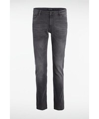 Jeans homme straight SOCHI effet used Gris Cuir de vachette - Homme Taille 34 - Bonobo
