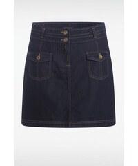 Jupe femme denim 2 poches Bleu Coton - Femme Taille 34 - Bonobo