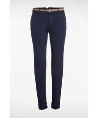 Pantalon femme chino avec ceinture Bleu Papier - Femme Taille 34 - Bonobo
