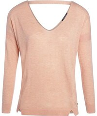 Pull femme dos et col en V Orange Polyester - Femme Taille L - Bonobo
