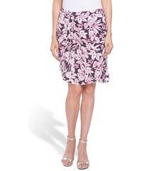 Jupe sarong imprimée Noir Viscose - Femme Taille 38 - Bréal
