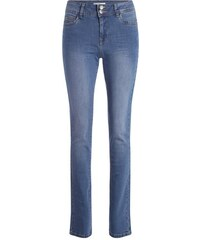 Jean regular effet used Bleu Synthetique (polyurethane) - Femme Taille 40 - Cache Cache