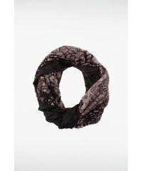 Snood femme 2 motifs tachetés Noir Viscose - Femme Taille TU - Bonobo