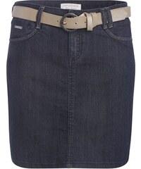 Jupe en jean droite avec ceinture Bleu Polyester - Femme Taille 34 - Cache Cache
