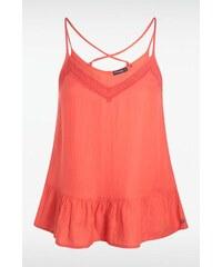 Top femme broderie et bretelles Orange Coton - Femme Taille L - Bonobo