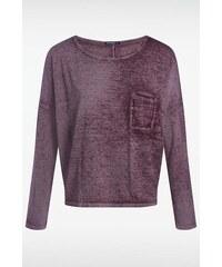 T-shirt femme loose maille dévorée Rouge Polyester - Femme Taille L - Bonobo