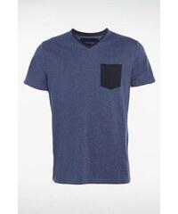 T-shirt homme manches courtes bicolor Bleu Coton - Homme Taille L - Bonobo