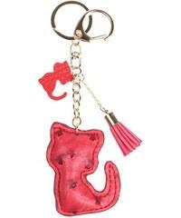 Porte-clé forme lapin avec pompon Rouge Metal - Femme Taille T.U - Cache Cache