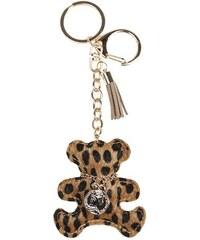 Porte-clé teddy léopard collier Orange Metal - Femme Taille T.U - Cache Cache