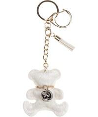 Porte-clé teddy poils et collier Blanc Metal - Femme Taille T.U - Cache Cache