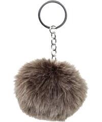 Porte-clés boule uni Gris Polyester - Femme Taille T.U - Cache Cache