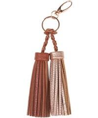 Porte-clés pompons bicolores Jaune Metal - Femme Taille T.U - Cache Cache