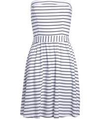 Robe bustier esprit néo-nautique Blanc Coton - Femme Taille 34 - Cache Cache