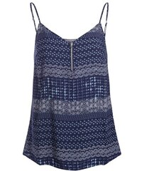 Top débardeur motif floral Bleu Viscose - Femme Taille 0 - Cache Cache
