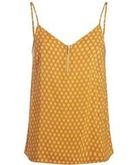 Top débardeur motif floral Jaune Viscose - Femme Taille 0 - Cache Cache