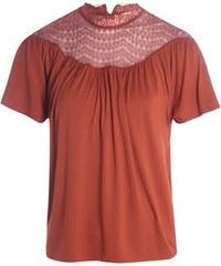Top haut macramé Orange Viscose - Femme Taille 0 - Cache Cache