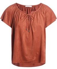 Top suédine col laçage Orange Elasthanne - Femme Taille 0 - Cache Cache