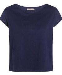 T-shirt col rond broderie placée Bleu Coton - Femme Taille 0 - Cache Cache
