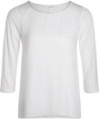 T-shirt droit liseré col Beige Polyester - Femme Taille 0 - Cache Cache