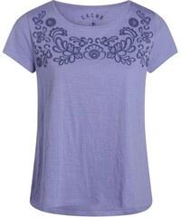 T-shirt motif floral encolure Violet Coton - Femme Taille 0 - Cache Cache
