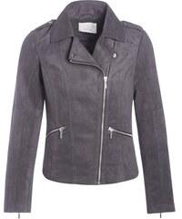 Veste motard suédine Bleu Polyester - Femme Taille 1 - Cache Cache