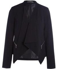 Veste pans asymétriques poches zippées Noir Polyester - Femme Taille 0 - Cache Cache