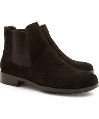 Leonardo Shoes Bottines pour femmes fait à la main en daim noir