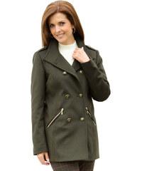Krátký kabát MONA olivová