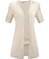 Tričkový kabátek MONA písková-zlatá