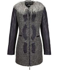 Krátký kabát AMY VERMONT šedá/černá