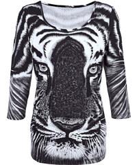 Tričko Laura Kent šedá/černá/ecru
