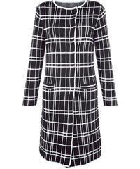 Pletený kabát AMY VERMONT černá/bílá