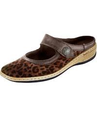 Nazouvací obuv Jenny hnědá-leo kombi