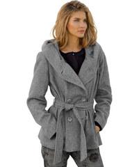 Vlněný kabát Damo sv.šedá